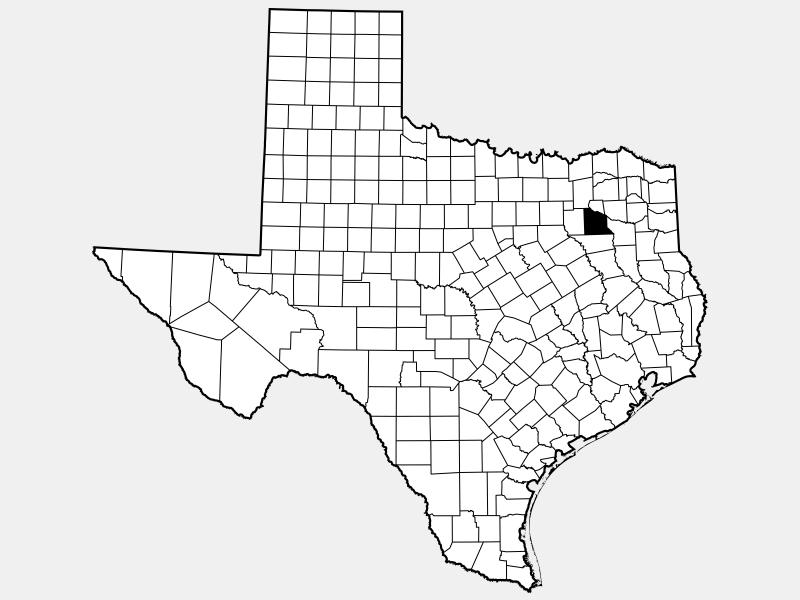 Van Zandt County locator map