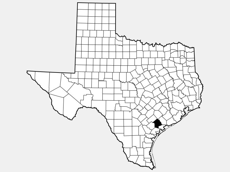Victoria County locator map