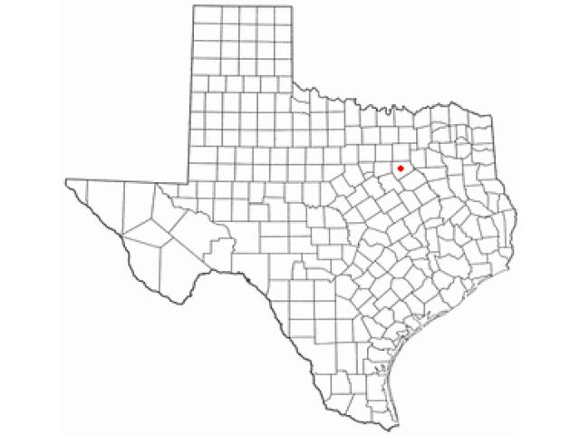 Waxahachie locator map