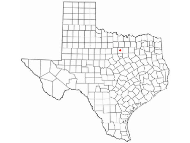Weatherford, TX locator map