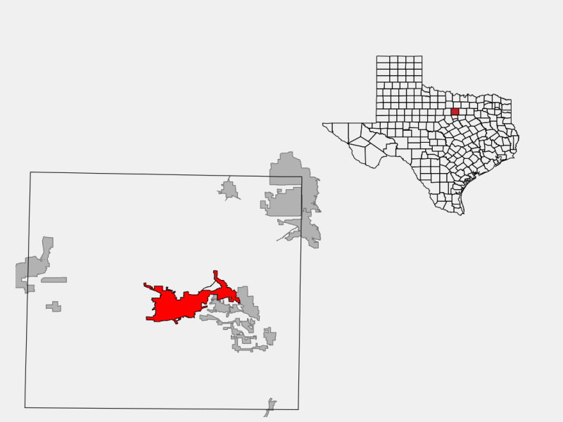 Weatherford location map