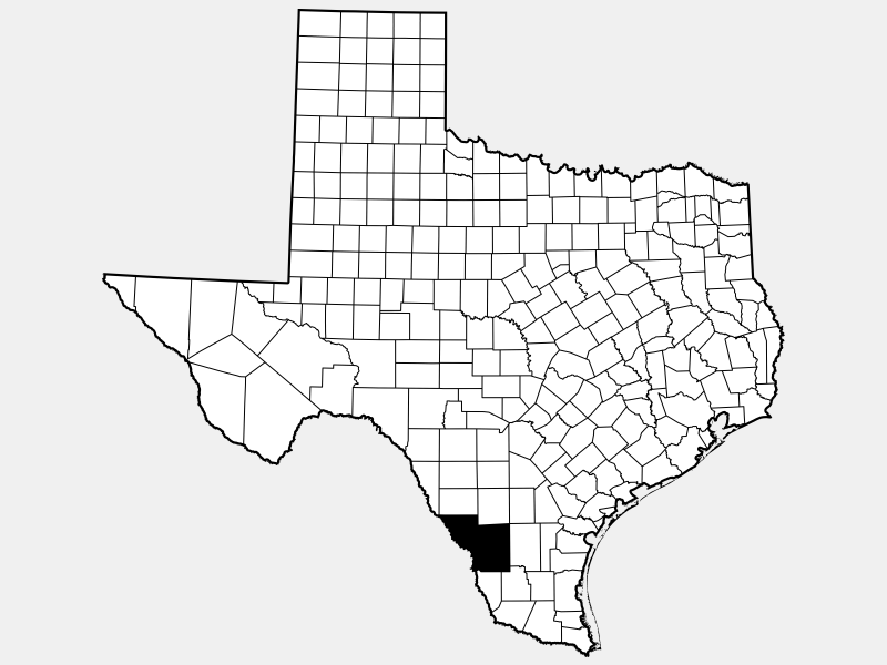Webb County locator map