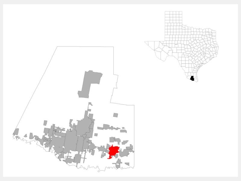 Weslaco, TX locator map
