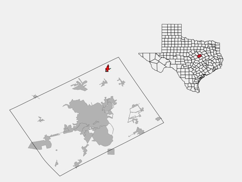 West locator map
