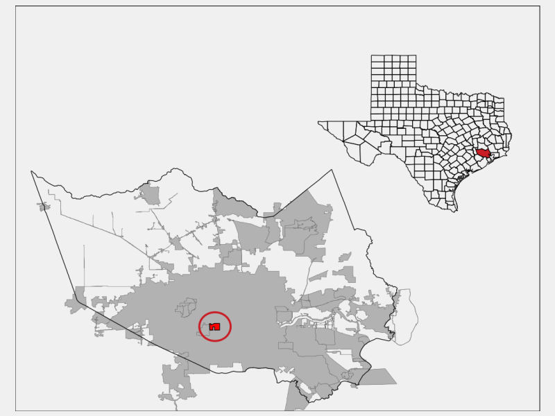 West University Place locator map