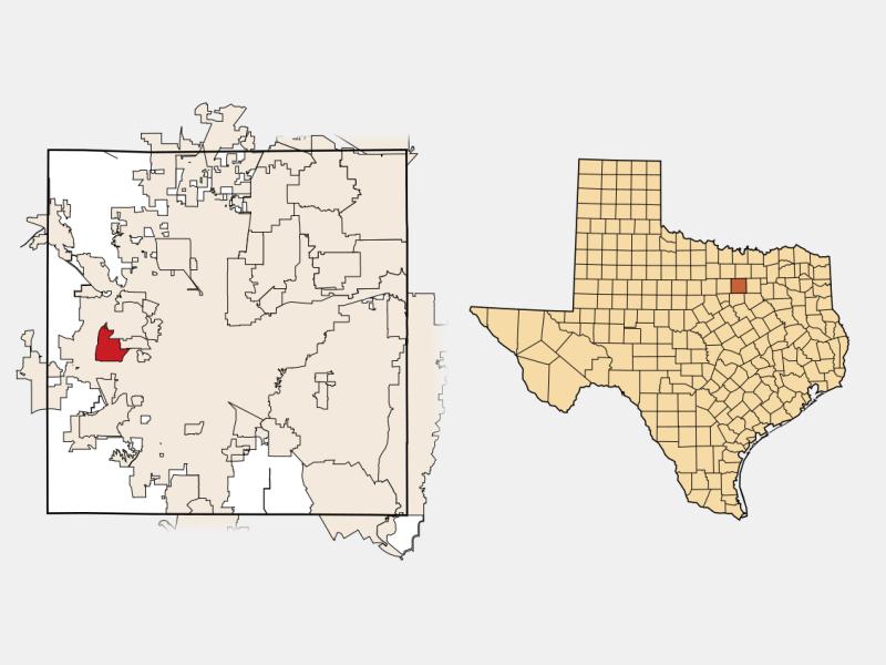 White Settlement, TX locator map