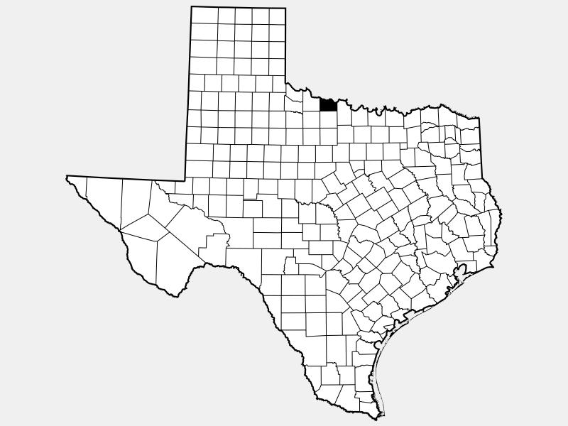 Wichita County, TX locator map