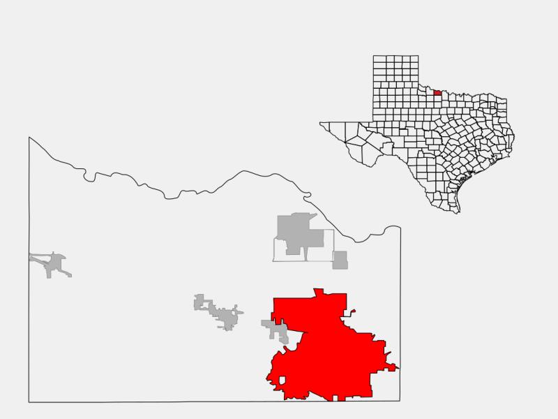 Wichita Falls locator map