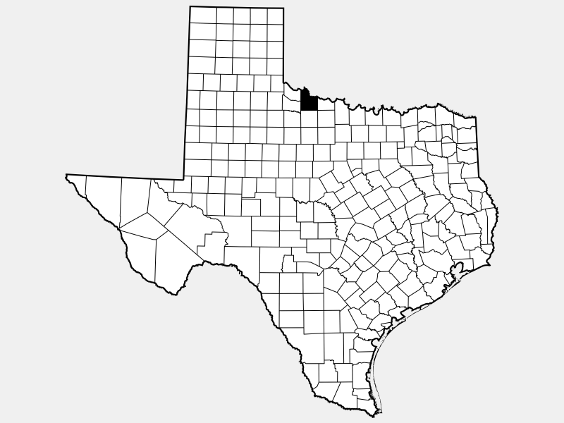 Wilbarger County locator map