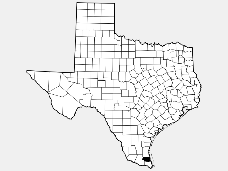 Willacy County locator map