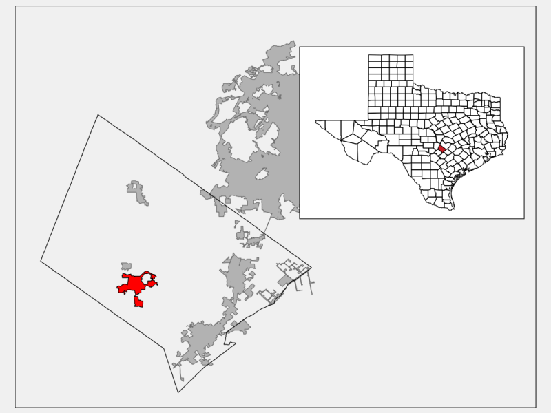 Wimberley locator map