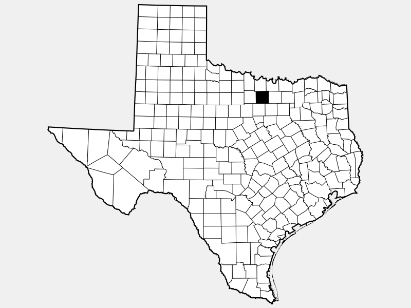 Wise County, TX locator map
