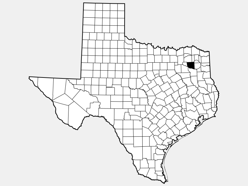 Wood County location map