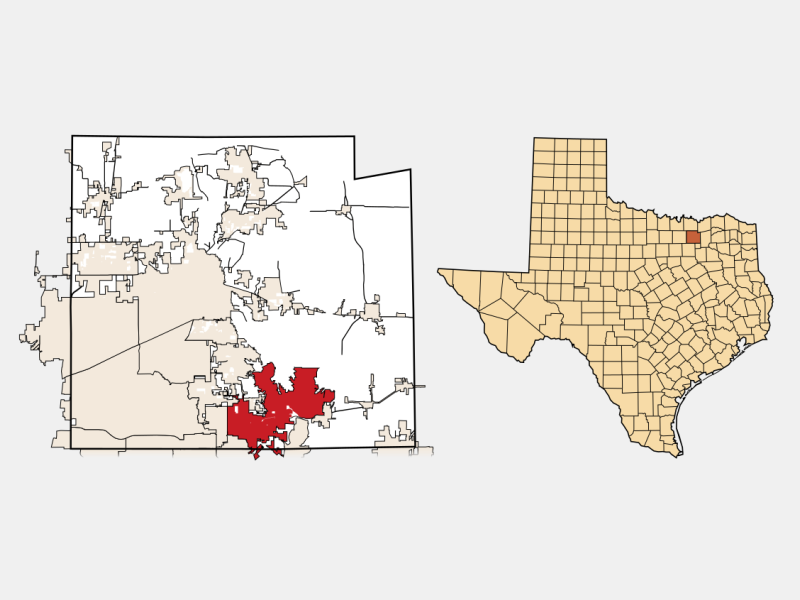 Wylie, TX locator map