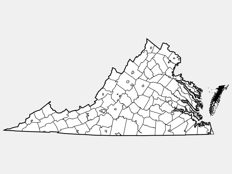 Accomack County locator map