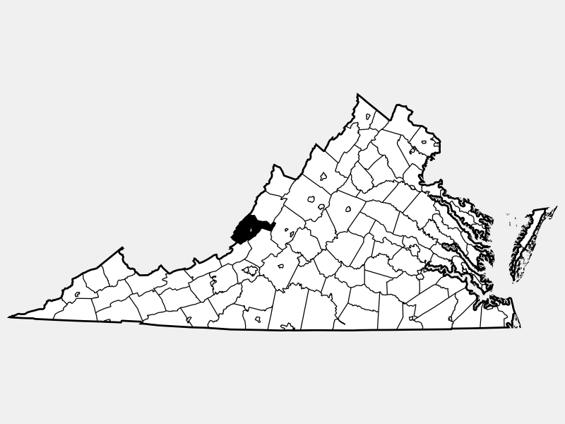 Alleghany County locator map