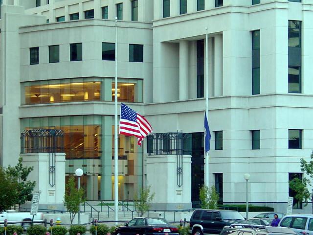 Half Mast at Courthouse image