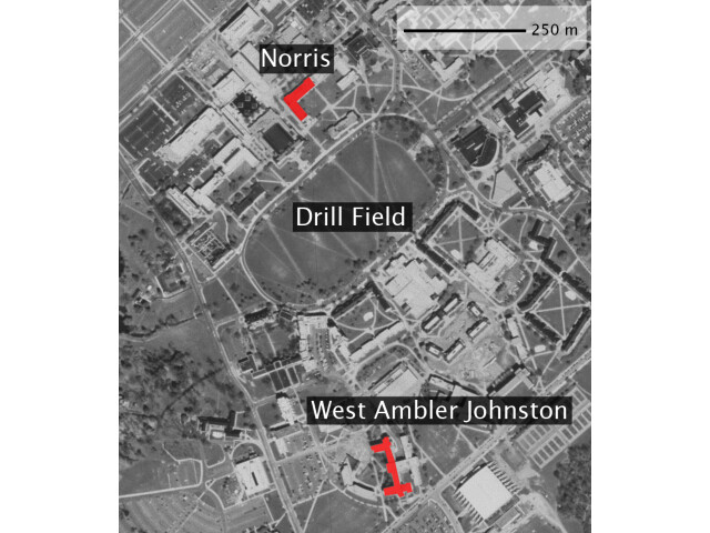 Blacksburg locator map