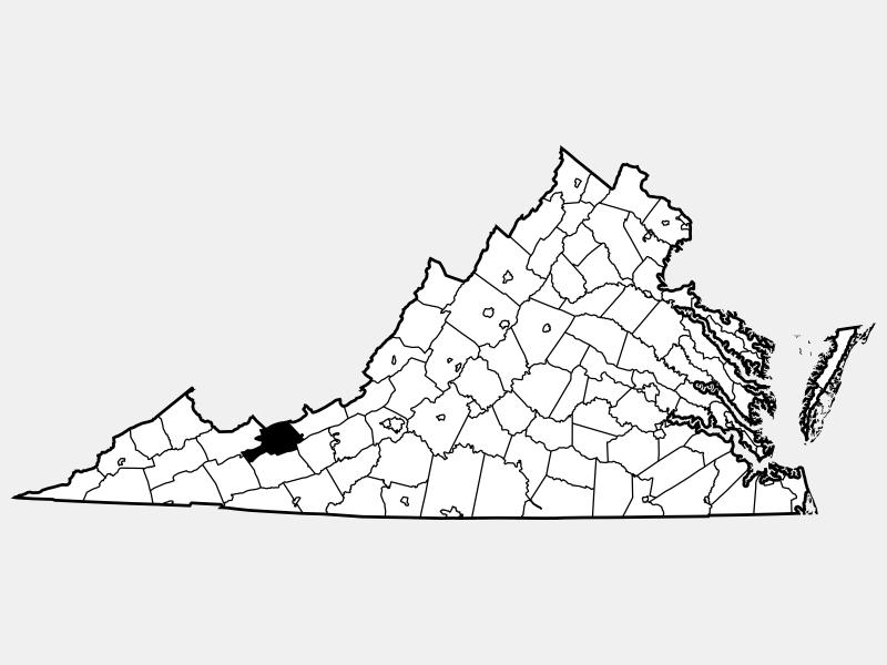 Bland County locator map