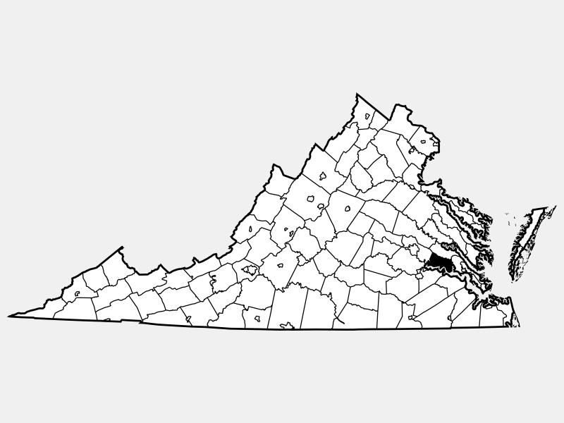 Charles City County locator map