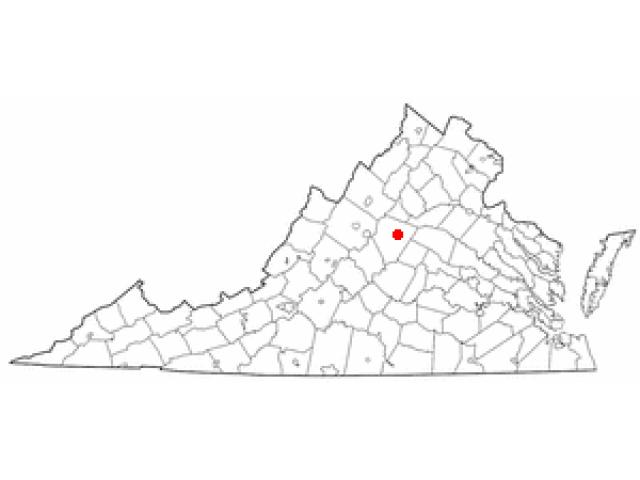 Charlottesville locator map