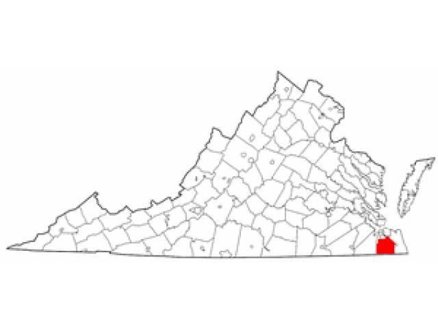 Chesapeake locator map