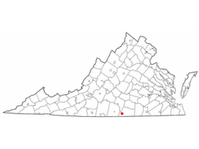 Clarksville locator map