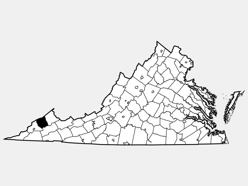 Dickenson County locator map