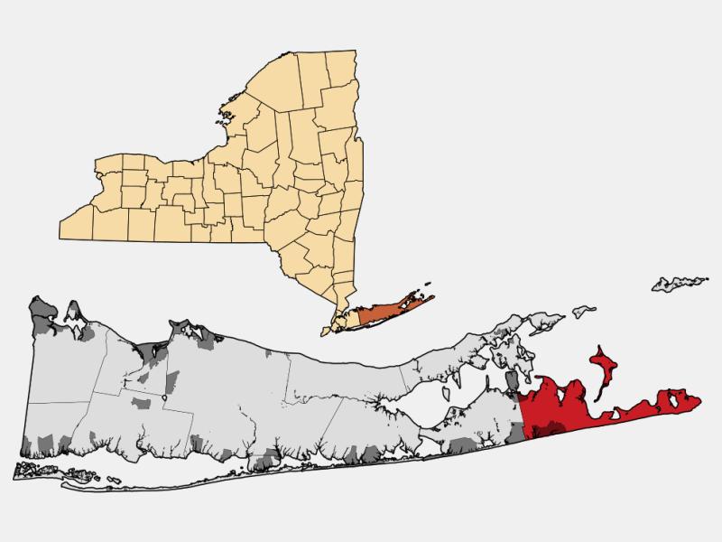 East Hampton locator map