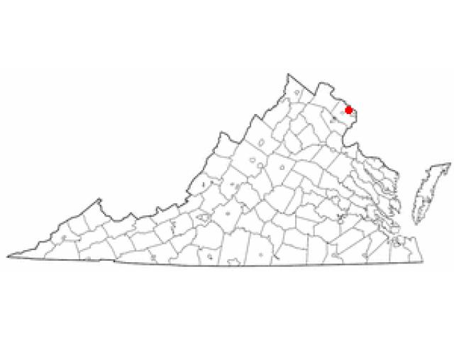 Falls Church locator map
