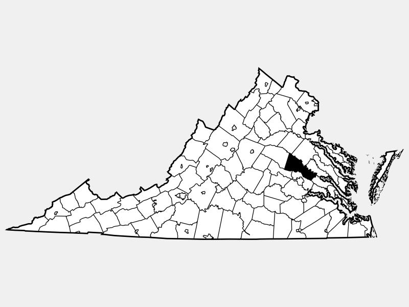 Hanover County locator map