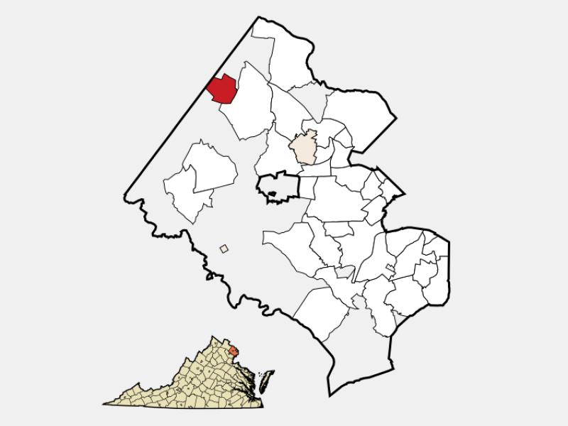 Herndon locator map