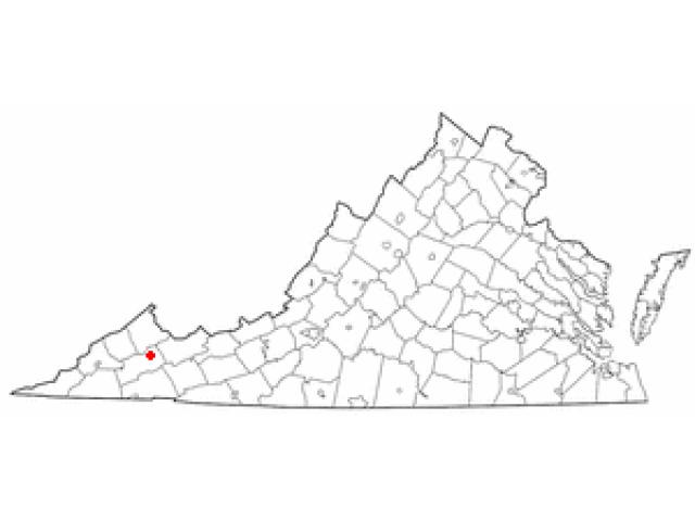Honaker location map