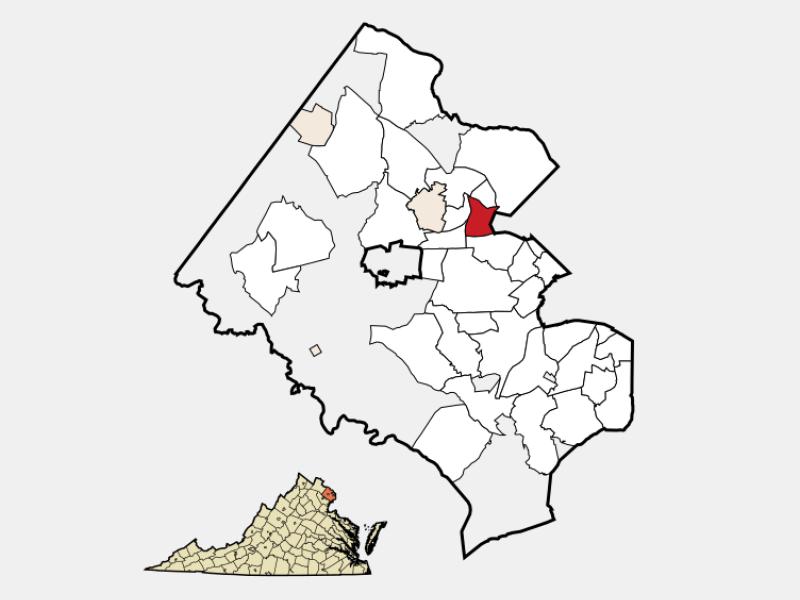 Idylwood locator map