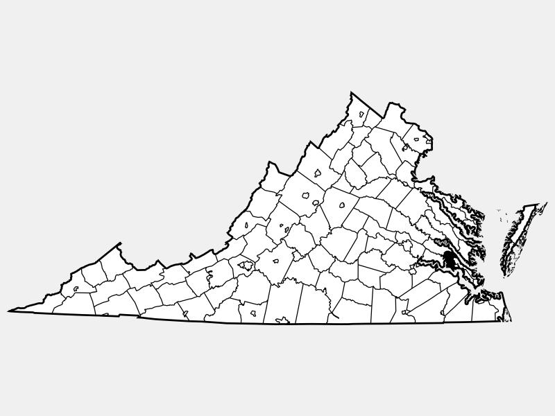 James City County locator map
