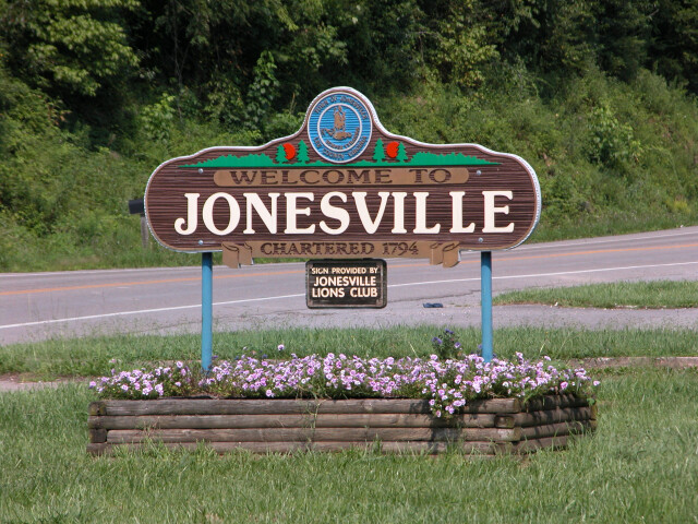 Welcome to Jonesville sign '3619513509' image