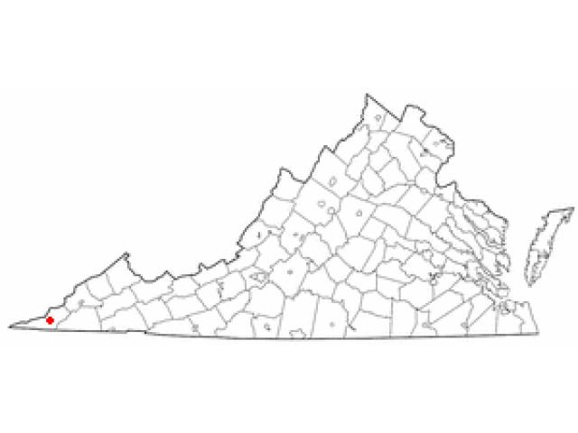 Jonesville locator map