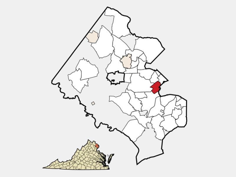 Lincolnia locator map