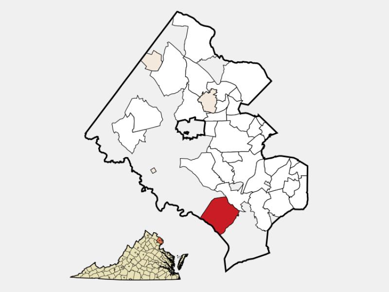 Lorton locator map