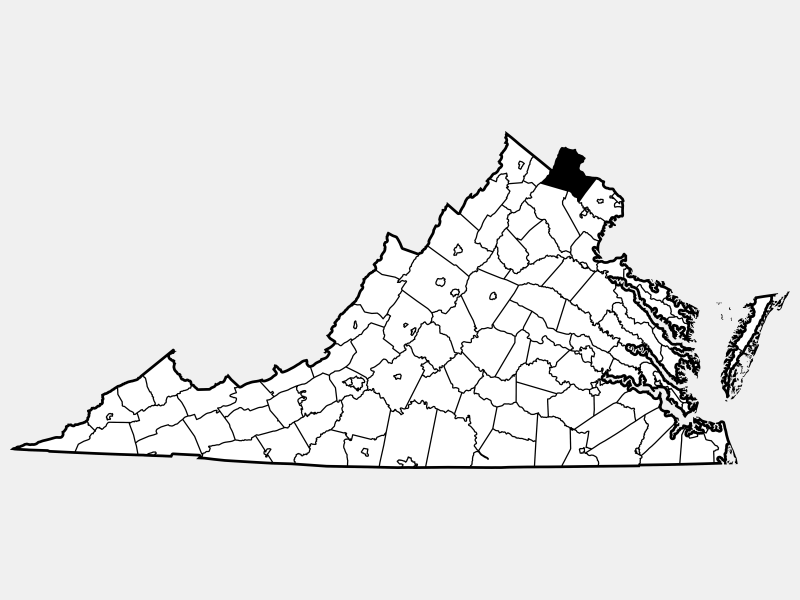 Loudoun County locator map