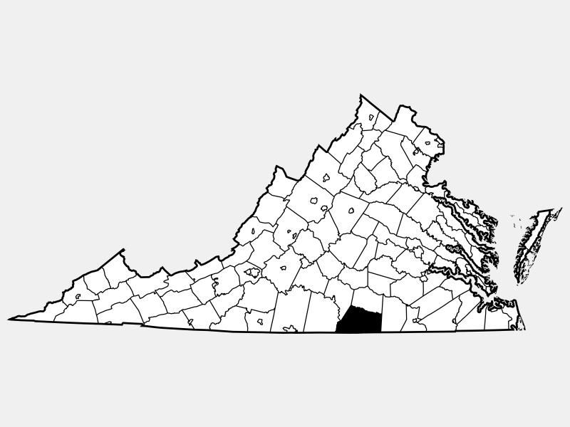 Mecklenburg County locator map