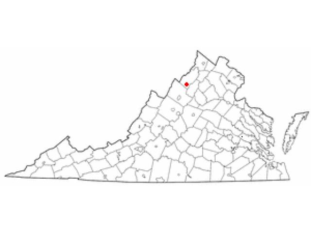 Mount Jackson locator map
