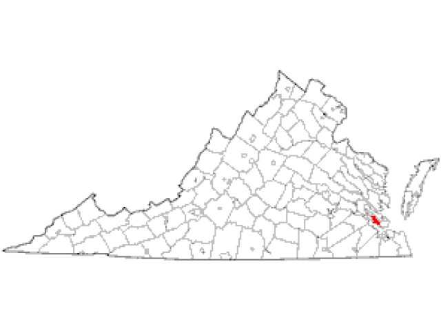 Newport News locator map