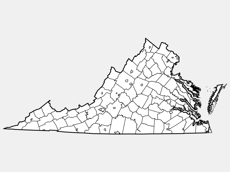 Northumberland County locator map