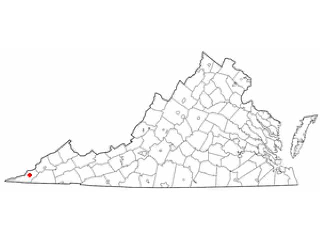 Pennington Gap locator map