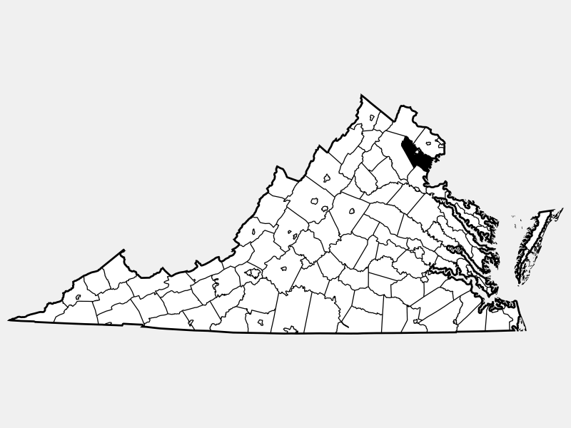 Prince William County locator map