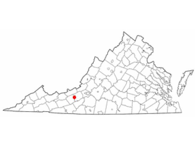 Radford locator map