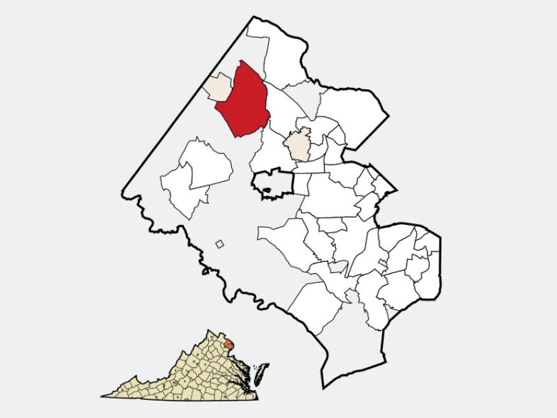 Reston locator map