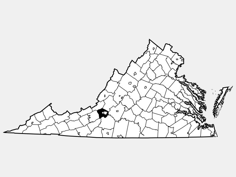 Roanoke County locator map