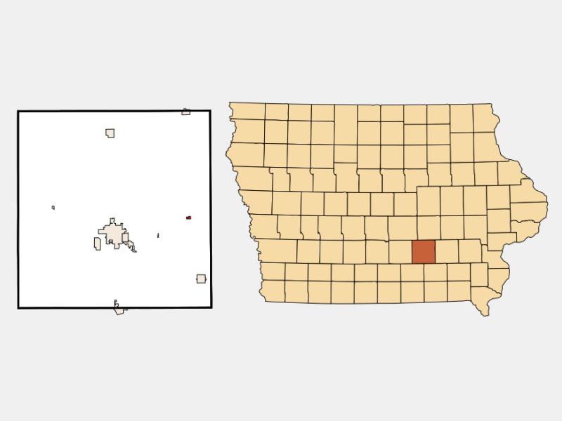 Rose Hill locator map